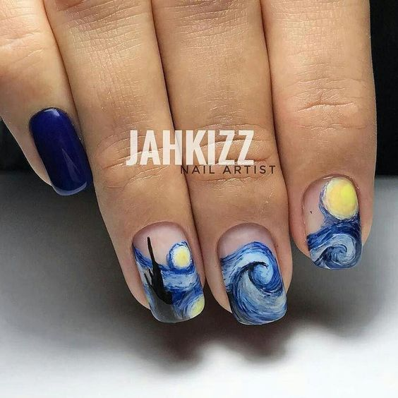 The Starry Night Nail Art