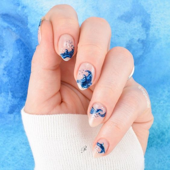 Waves Nail Art