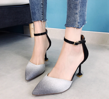 Glittery Gradient Heels