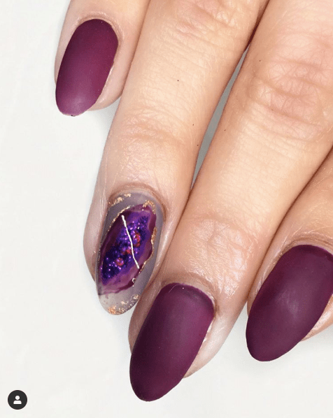 Amethyst Geode Nails