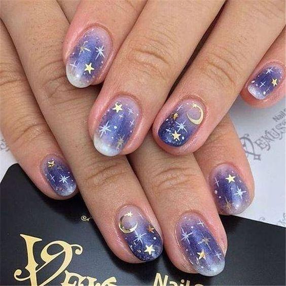 Starry Skies Nail Art