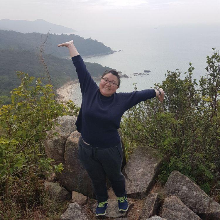 Bernie in Hong Kong after a good hike