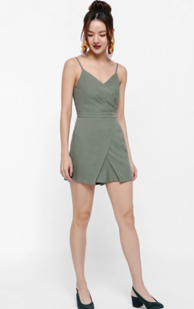 Junita Wrap Romper by Love, Bonito