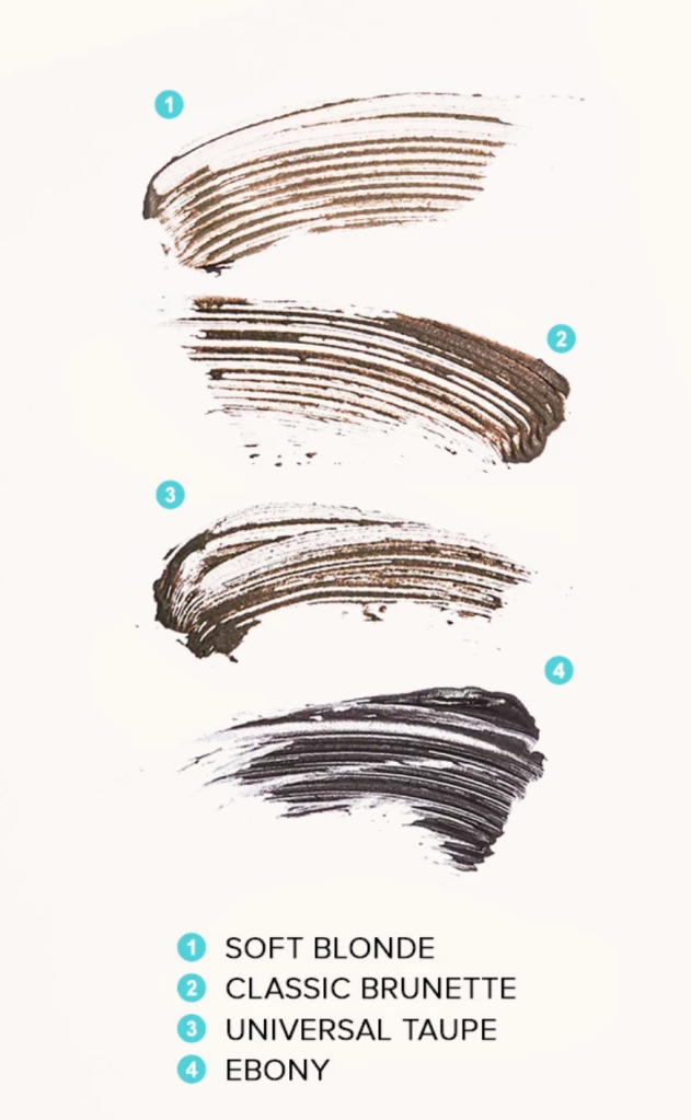 Swatches of Micro-Fluff Sculpting Brow Cream