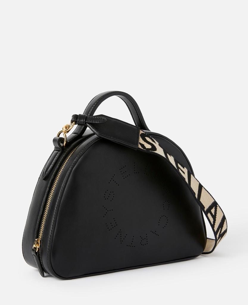 Stella Logo Structured Shoulder Bag in Black