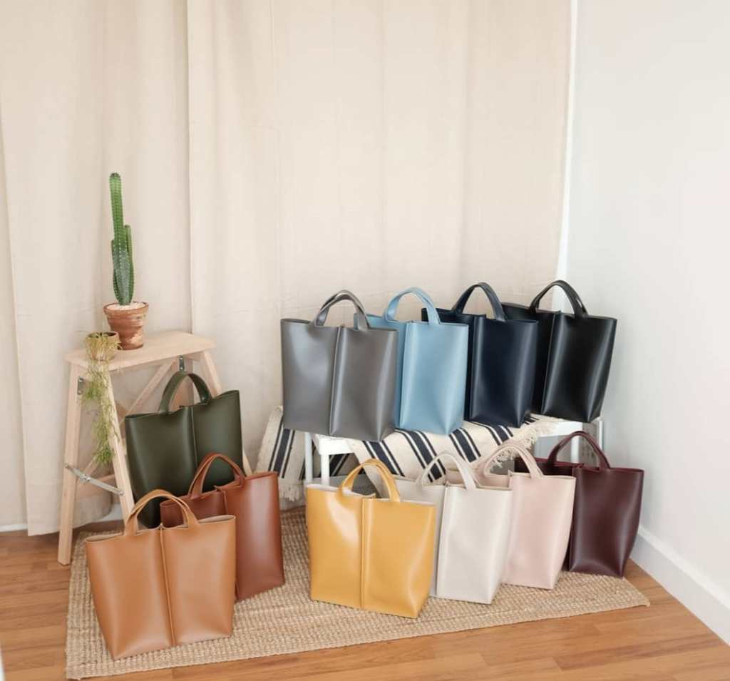 White Oak Factory leather tote bag