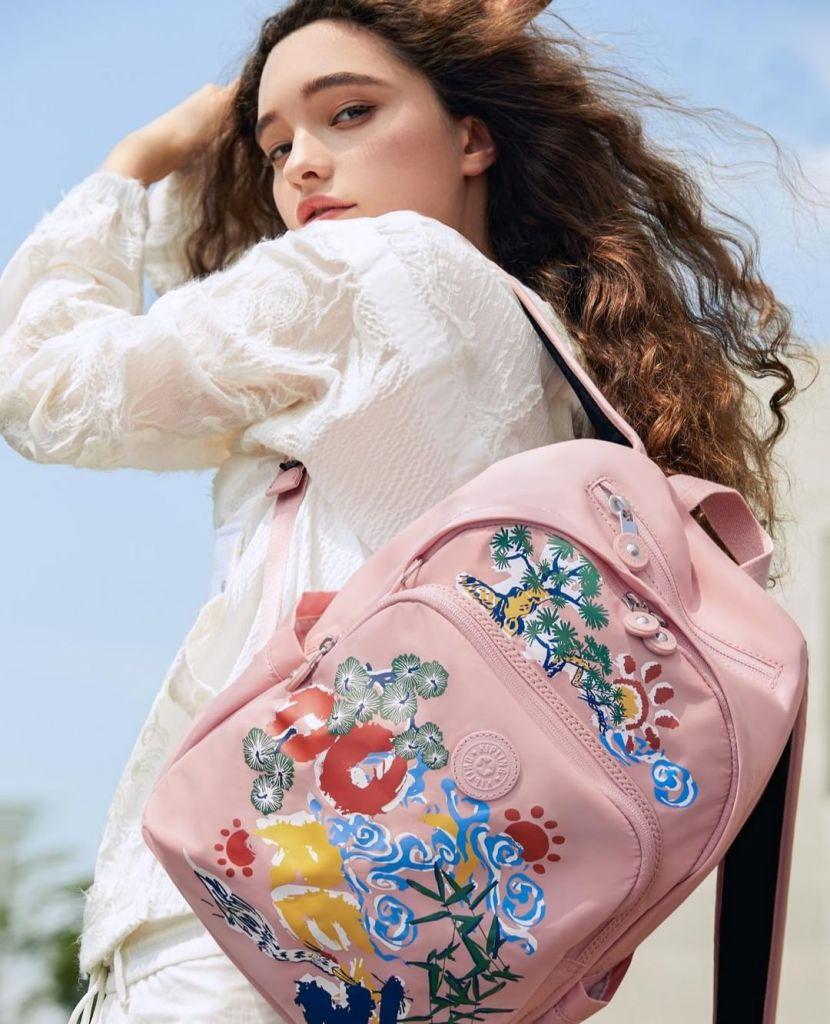 Kipling embroidered bag
