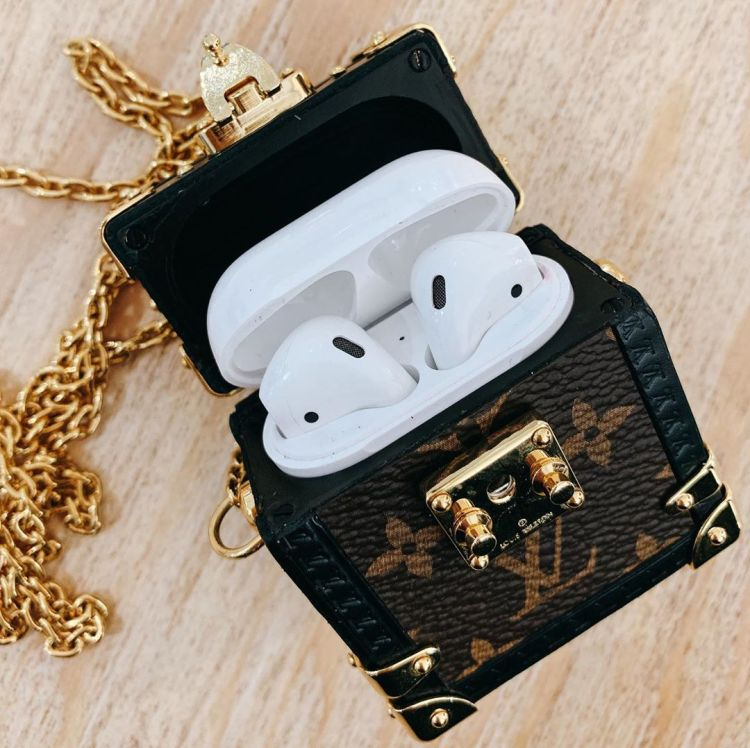 Here's how the Louis Vuitton's SS20 Monogram Trunk AirPods case look when it's opened