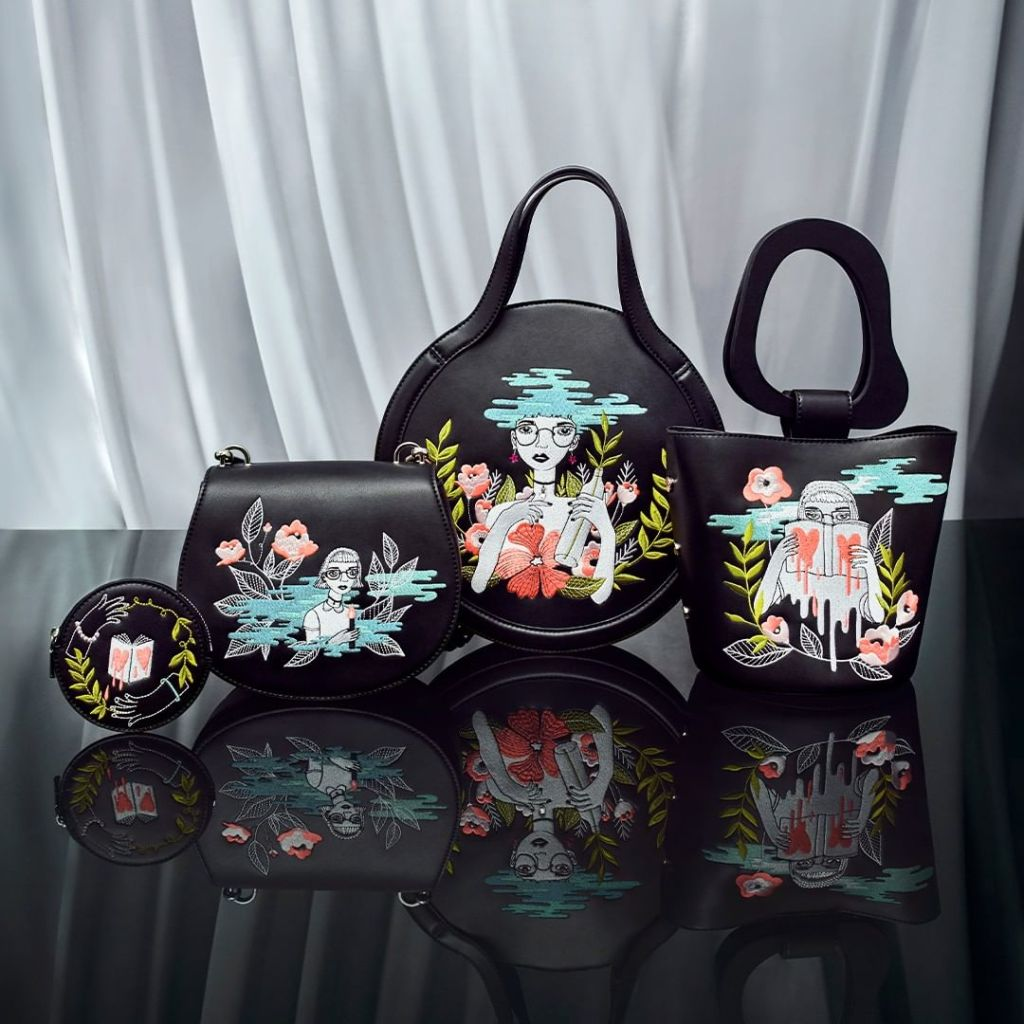 Charles and Keith shoes embroidery designed by Chinese illustrator Oamul Lu