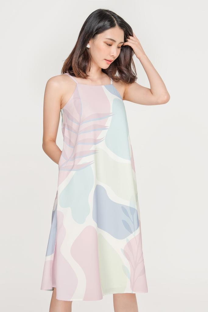 Fayth Abstract Geometric Print Element Midi Dress