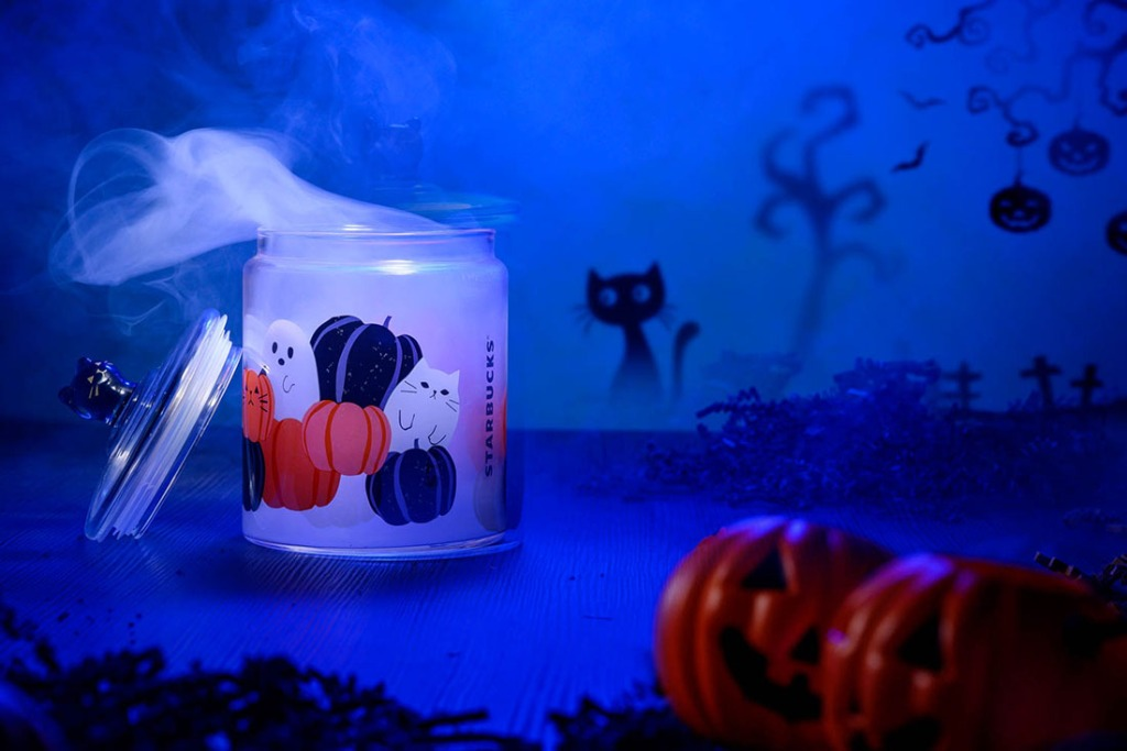 Starbucks spooky glass jar