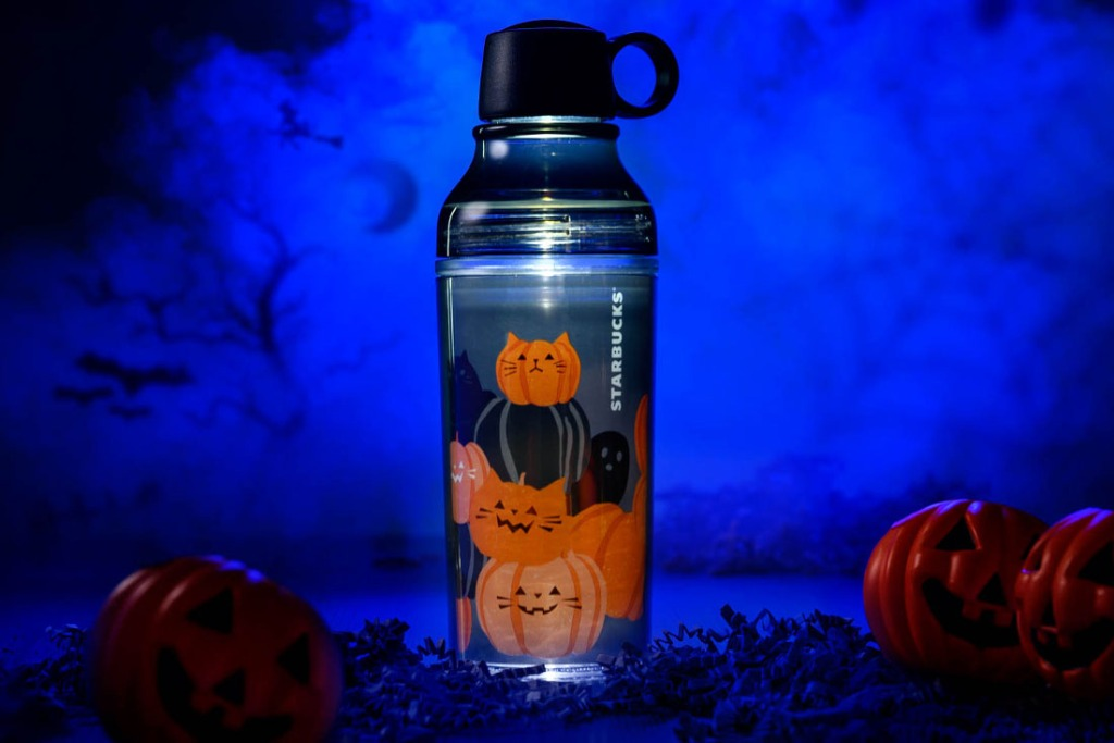 Starbucks LED bottle with pumpkins