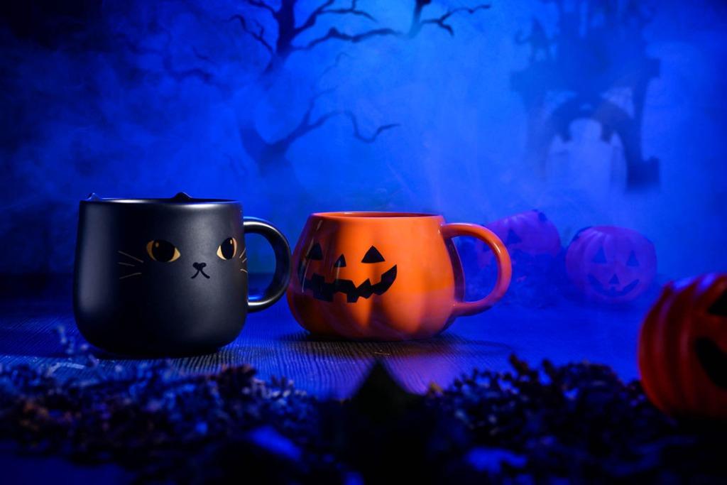 Starbucks pumpkin and black cat mug