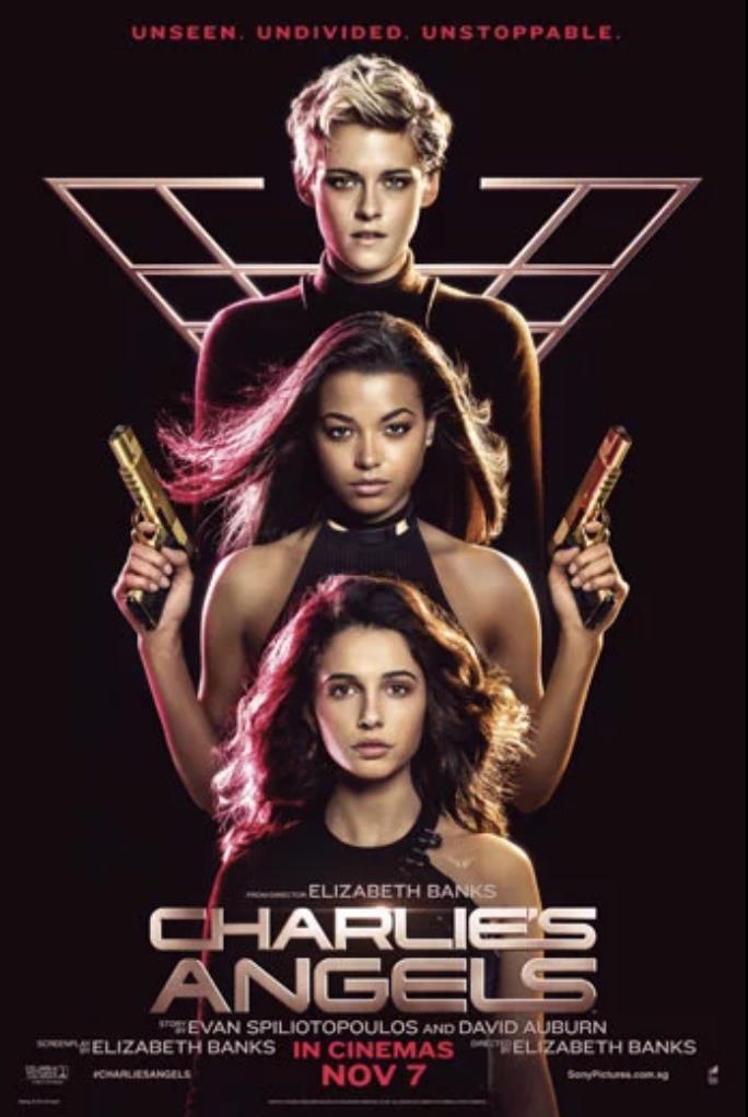 Charlie's Angels 2019 Movie starring Kristen Stewart, Naomi Scott, Ella Balinska