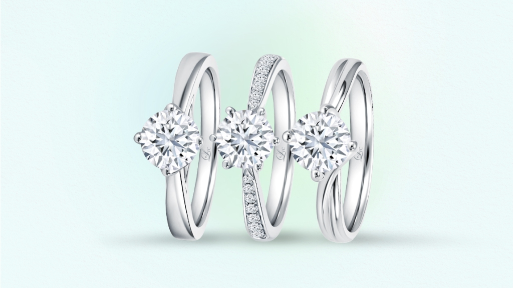 Love & Co. ring bands in traditional, pinch, and bypass.