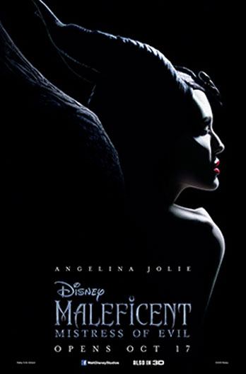 Angelina Jolie in Maleficent Movie Poster