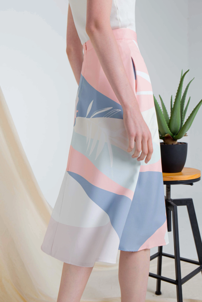All would envy aline skirt with geometric and abstract print