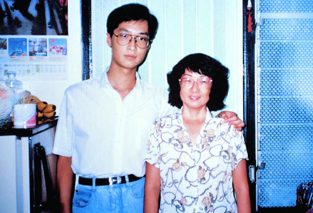 A photo of Steven Ma and his mother taken when she was still in good health