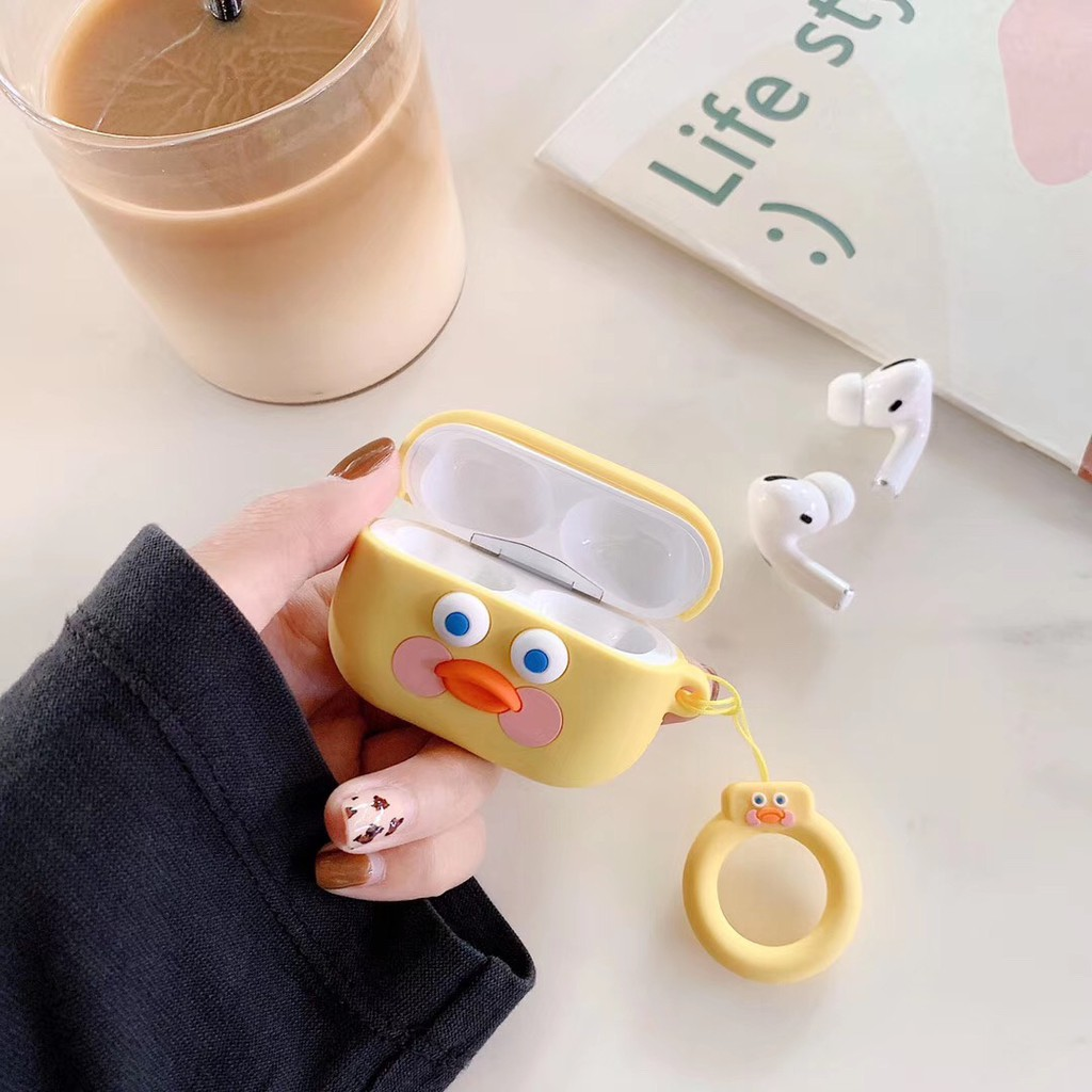 Cute Yellow duck AirPods Pro case