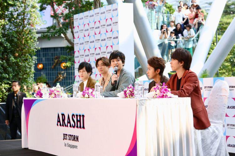Arashi Press Conference in Singapore