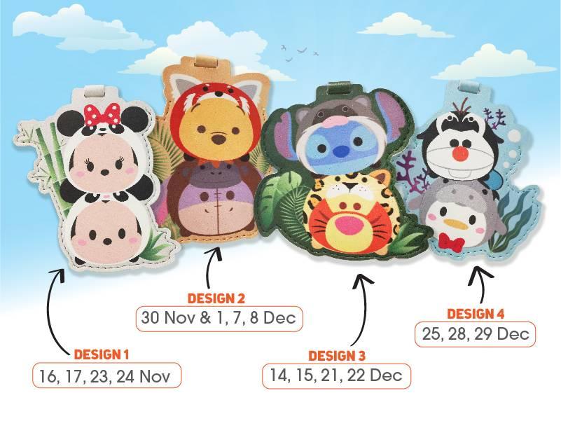 River Safari with Disney tsum tsum bag tags