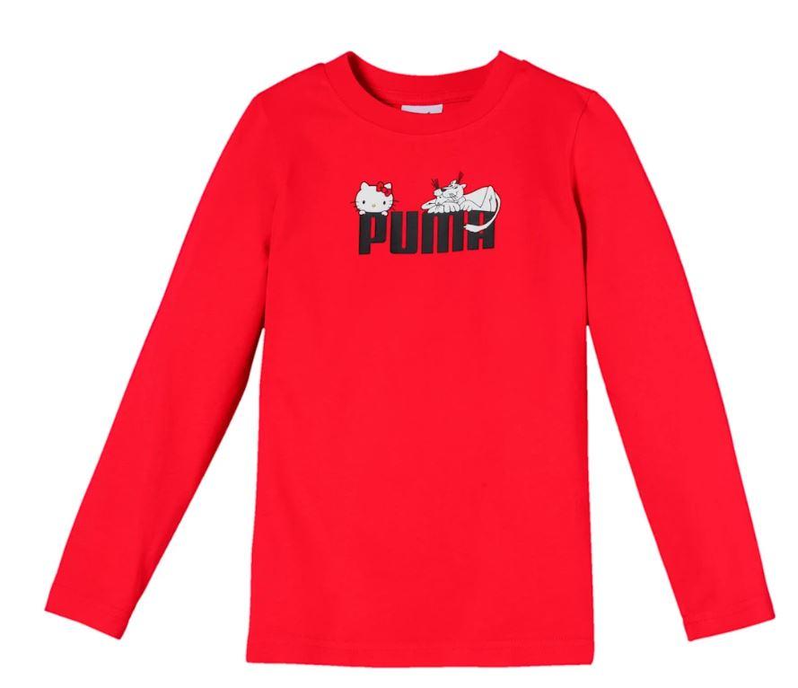 Puma and Hello kitty sweatshirt in red