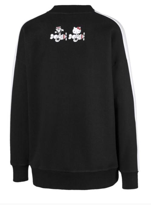 Puma and Hello Kitty cotton crew neck sweater