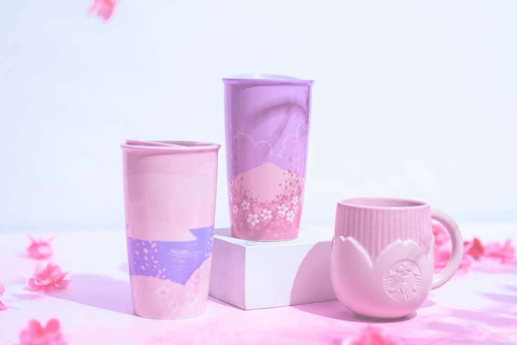Starbucks Sakura Blossoms Porcelain Tumblers and Mug