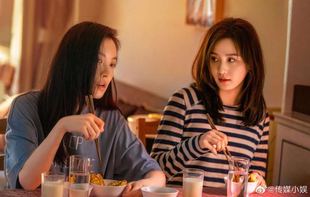 Liu Shishi and Nini's characters share a meal together in C-drama My Best Friend's Story